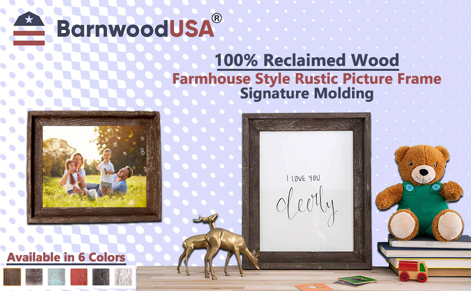 farmhouse style rustic picture frame