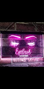 ADVPRO Dual-Color LED Neon Sign Home decor-ation wall Hello Beautiful Gorgeous sexy eye-lashes blank