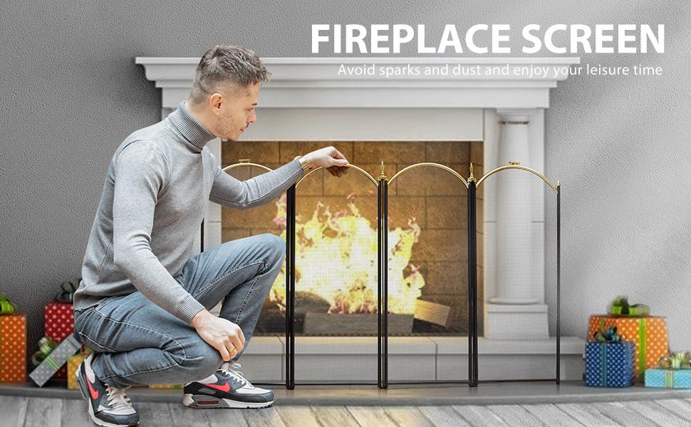 fireplace screen banner