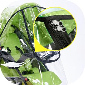 1X Housse de pluie pour poussettes Bouclier universel de resistant aux pouss J03