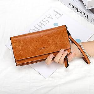 Cartera Larga para Mujer Estilo Billetera Simple para Damas ...