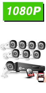 Flashandfocus.com 8c611d6e-6c5c-4818-94ce-6bb0cddd80a2.__CR0,0,150,300_PT0_SX150_V1___ XVIM 8CH 1080P Security Camera System Home Security Outdoor 1TB Hard Drive Pre-Install CCTV Recorder 4pcs HD 1920TVL…