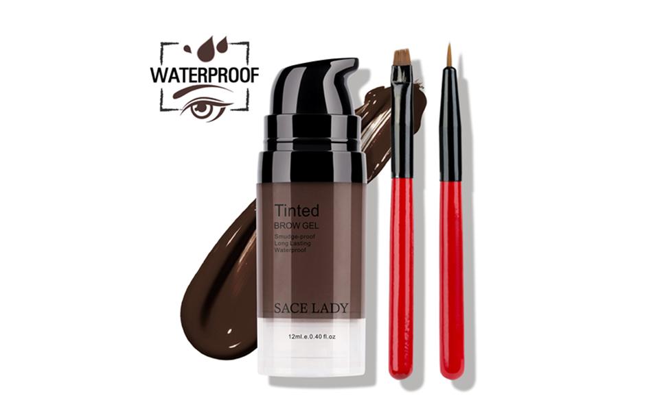 long lasting waterproof smooth high pigmented eye brow cream gel stay all day long black brown dark