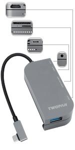 twopan multi port usb c adapter