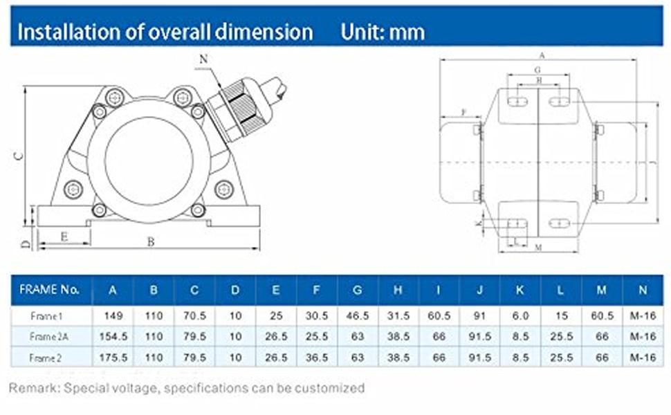 Profi/_ 220V 1 P AC Vibration Motor Vibrating Asynchronous Vibrator 30W 3000RPM