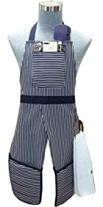 aprons for men women adjustable bib neck strap and extra long ties pocket cotton  kitchen chef