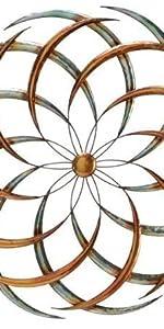Spiral Sun - Twenty Four Rays Metal Indoor/Outdoor Wall Art