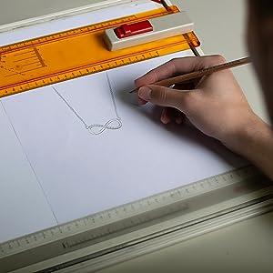 man designing