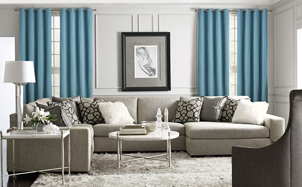 Siena Light Grey grommet curtains
