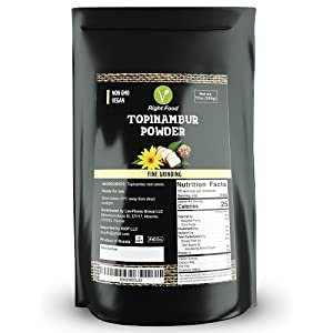 Topinambur Powder 12oz | Organic Inulin Powder Flour 350g | Jerusalem Artichoke Powder Healthy Vegan