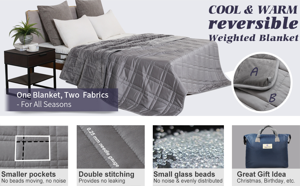 Reversible All Season Weighted Blanket