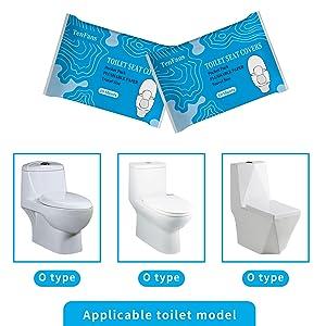 XL Flushable  Paper Toilet Seat Covers