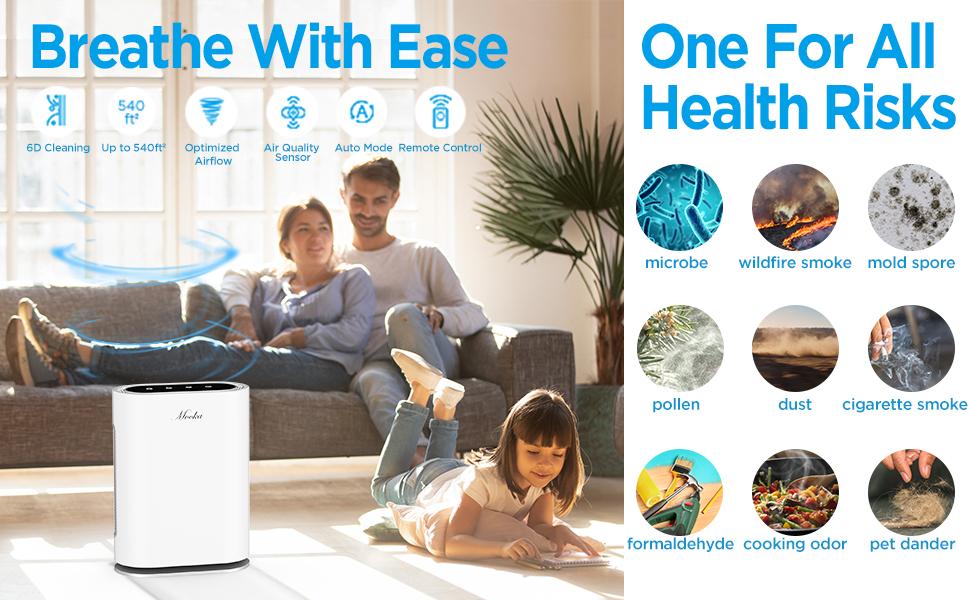 smart air purifier pet bedroom whole house air purifiers uv air purifier office Odor Eliminator