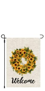 mothers day sunflower tulips boxwood wreath welcome