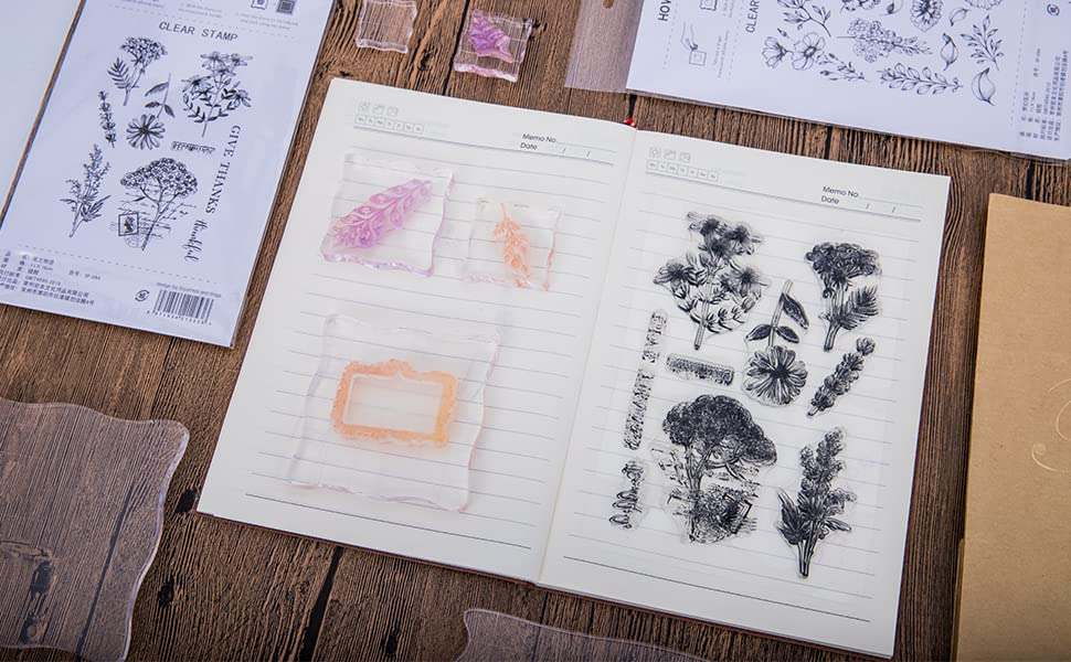 Small Clear Stamps for Card Making Decoration and DIY Scrapbooking