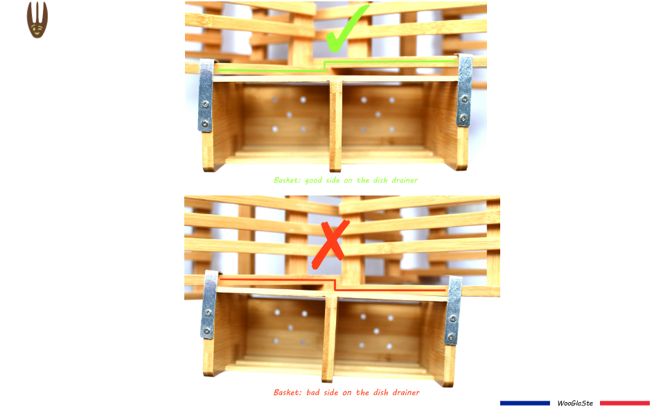 Basket: good side on the dish drainer