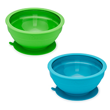 Tempered Glass and Silicone Bowls