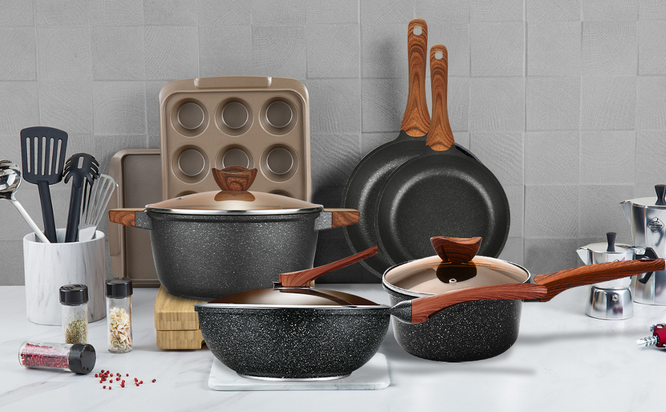 cookware set, pan set