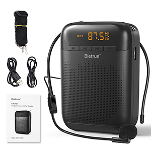 Portable Voice Amplifier with Microphone Headset