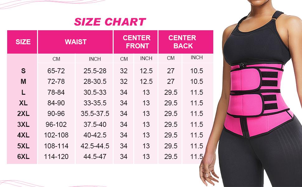 FeelinGirl Womens Latex Waist Trainer Weight Loss Body Shaper Tummy Control Cincher Corset Double Belt 7 Steels