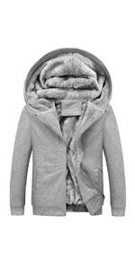 Sherpa Lined Zip Up Hoodies Sweatshirt