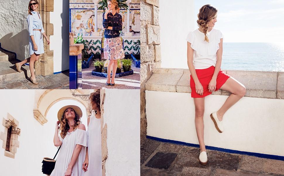 espadrilles for women ladies blue navy white black beige silver pink grey red green espardenyes