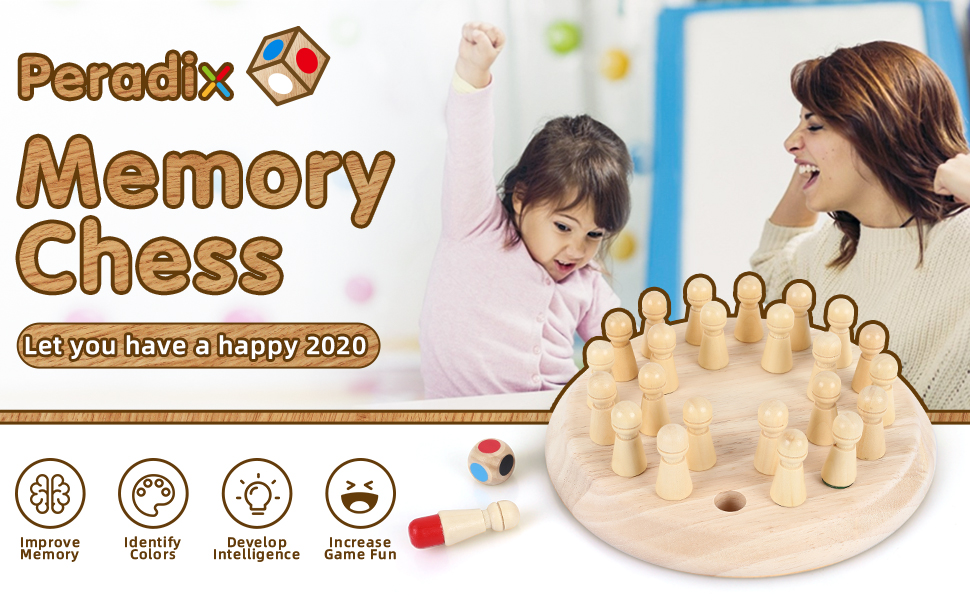 wooden memory chess
