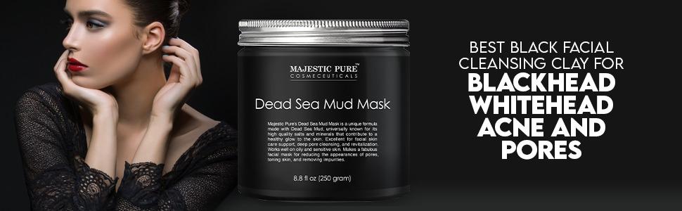 Majestic pure authentic dead sea mud mask face pore minimizer detox natural organic