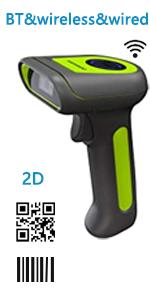 2d barcode scanner wireless bluetooth