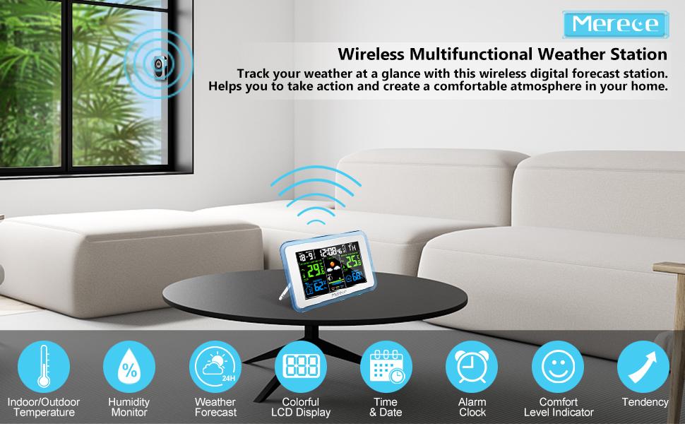 Weather Station Wireless Indoor Outdoor
