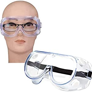 CUBBY Safety Goggles Protective Eye wear Clear Anti-Fog Eye Protection Spectacles Glasses Goggle
