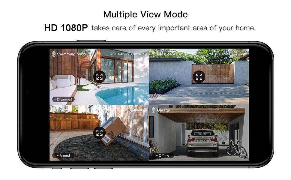 HD 1080p Cloud Storage Video, 2 Way Audio Call, Night Visionn, Waterproof, Solar Li Battery