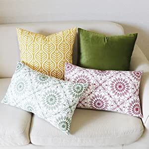 yellow thros pillow covers