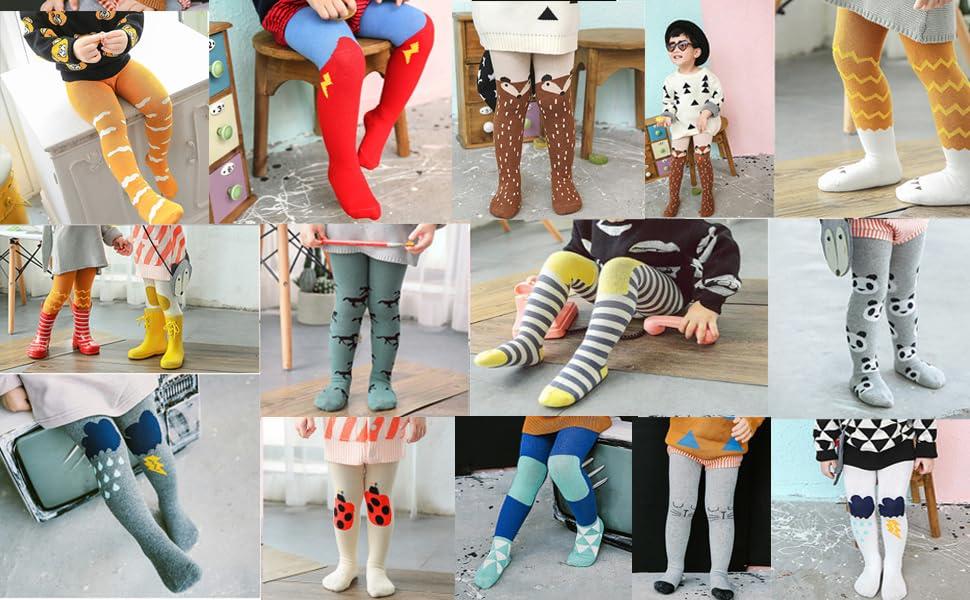 0-3T Baby Kids Girl Boy Cotton Warm Tights Stockings Pantyhose Pants Socks Set