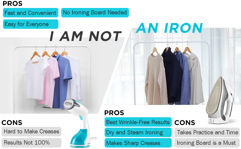 Difference between steamer and iron
