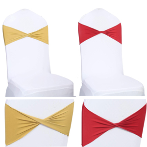 spandex chair bow sash for wedding