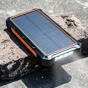 Flashlight Solar power Bank