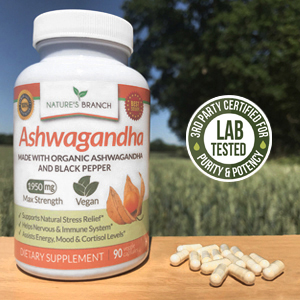 Ashwagandha organic powder non gmo supreme india herb pills vegan vitamins with black pepper extract