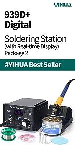 Soldering Station best yihua soldering station 939D+ basic soldering best for beginners