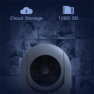 CACAGOO 1080P Telecamera WiFi interno, Videocamera IP Sorveglianza wifi, ip camera wifi per Animali Domestici e Bambini, Baby Monitor conVisione notturna e Audio Bidirezionale