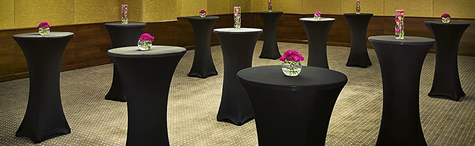 5 Piece Bar Table Cover Covers Party Bistro Table Cover 80x110cmWhite