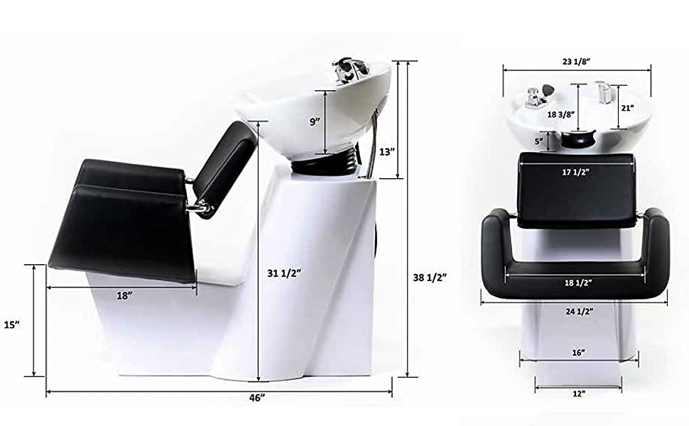 ARON Shampoo Backwash Unit Dimension