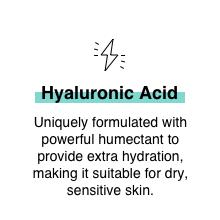 Hyaluronic Acid hydration Niacinamide dry sensitive skin soothing repair barrier oil balance