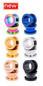 12PCS Stainless Steel Double Flared Ear Tunnels Set