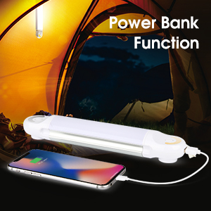 camping light with power bank function