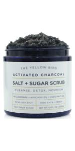 charcoal salt sugar scrub