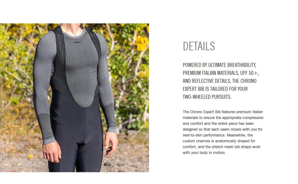 giro apparel Chrono Expert Bib Short mens road bike details