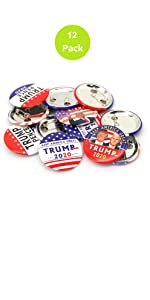 Trump buttons 12 pack