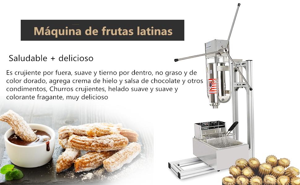 Maquina para hacer y freír churros de estilo español con soporte ...