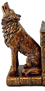 Howling Wolf Bookends dragon bookends  fantasy bookends  medieval bookends Shelves Book Stoppers